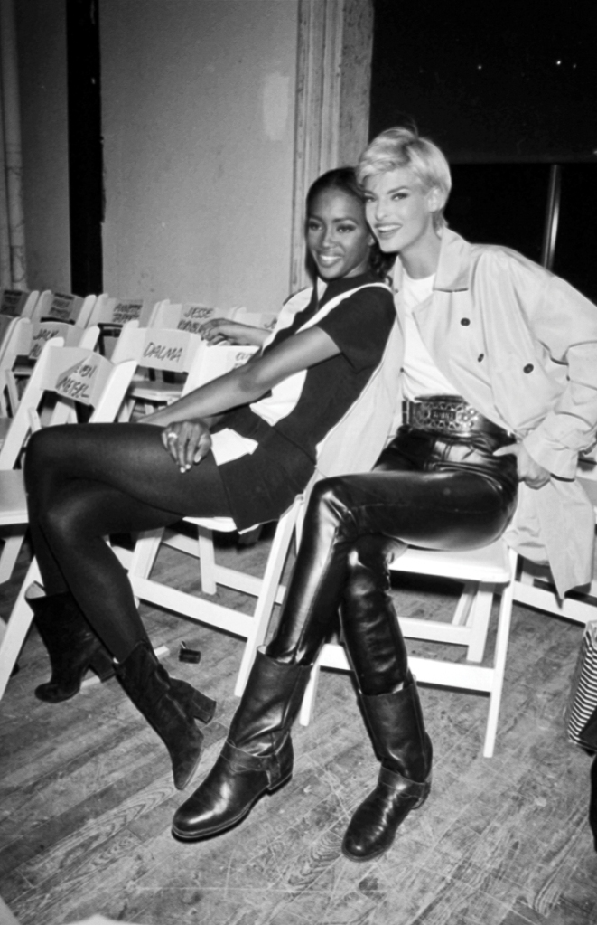 Naomi Campbell and Linda Evangelista